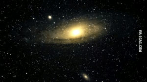 9gag, Milky Way, and Andromeda: VIA 9GAG.COM My first picture of the andromeda galaxy, the galaxy which will collide with the milky way one day.