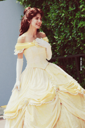 9gag, Disney, and Disney World: VIA 9GAG.COM My wife just became Belle at Walt Disney Worldthis is her day 1 at Epcot. Needless to say, I think she fits the part