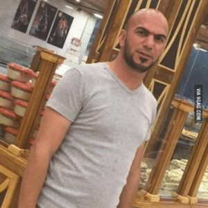 9gag, Iraq, and Suicide: VIA 9GAG.COM Najih Al-Baldawi hugged a suicide bomber attempting to blow up a Shrine in Iraq so he could reduce the casualty.