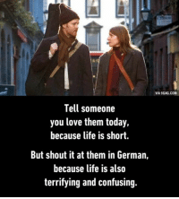 telling someone you love them