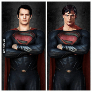 Who did it better? Henry Cavill or Christopher Reeve?: VIA 9GAG.COM Who did it better? Henry Cavill or Christopher Reeve?