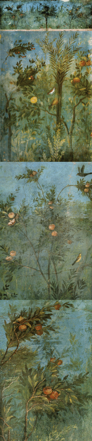 via-appia: Painted garden fresco from Livia Drusilla's villa. Roman, 30-20 BC : via-appia: Painted garden fresco from Livia Drusilla's villa. Roman, 30-20 BC
