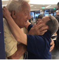 An 88-year-old dad is reunited with his 53-year-old son who has down syndrome after spending a week apart for the first time ever.: via Jukin An 88-year-old dad is reunited with his 53-year-old son who has down syndrome after spending a week apart for the first time ever.