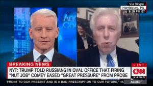 "fiftythreecrimes:  ""If he took a dump on his desk you would defend it""Anderson ajsksfhajfhajfafa: Via Skype  Harrisburg, PA  8:18 PM ET  BREAKING NEWS  LIVE  NYT: TRUMP TOLD RUSSIANS IN OVAL OFFICE THAT FIRING I CAN  ""NUT JOB"" COMEY EASED ""GREAT PRESSURE"" FROM PROBE  8:18 PM ET  FRONT TO OUR PRESENT AND IS A BAD PRESCRIPTION TO OUR FUTURE,"" MAC360 fiftythreecrimes:  ""If he took a dump on his desk you would defend it""Anderson ajsksfhajfhajfafa"