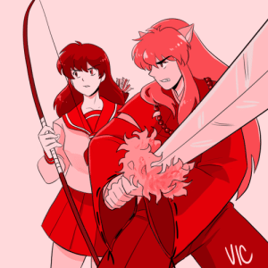 "incaseyouart:  Huevember Day 9 also works for Inuvember!Honestly I would not be the person I am today without this anime. It was my first true anime (as in, I dabbled with CCS and Sailor Moon, but never really was ""woke"" until Inuyasha). I started learning how to draw when I watched this show, I made most of my friends from mutual interest in it, I learned about conventions, got into cosplay (sorta), and just in general gained so many passions because of it. To this day I love re-watching favourite episodes (and there are many) - it remains to be one of the only shows that my partner and I agree on watching together, so that's important bonding time - and I don't think I'll ever stop loving it. Thank you Rumiko Takahashi for this timeless masterpiece <3: VIC incaseyouart:  Huevember Day 9 also works for Inuvember!Honestly I would not be the person I am today without this anime. It was my first true anime (as in, I dabbled with CCS and Sailor Moon, but never really was ""woke"" until Inuyasha). I started learning how to draw when I watched this show, I made most of my friends from mutual interest in it, I learned about conventions, got into cosplay (sorta), and just in general gained so many passions because of it. To this day I love re-watching favourite episodes (and there are many) - it remains to be one of the only shows that my partner and I agree on watching together, so that's important bonding time - and I don't think I'll ever stop loving it. Thank you Rumiko Takahashi for this timeless masterpiece <3"