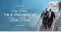 Birthday, Happy Birthday, and Happy: VICE PRESIDENT  Cprce Happy birthday to our GREAT Vice President Mike Pence!