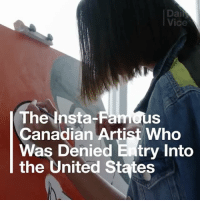 Friends, Memes, and Parents: Vice  The Insta-Famous  Canadian Artist Who  Was Denied E try Into  the United States as some of you know i was recently detained and profiled at the US border which resulted in me not being able to enter the country for the signing tomorrow. For three hours i stood in a windowless room with no clocks, washrooms or water. my phone was confiscated and i was interrogated like a criminal for personal information like bank balances and the birthplace(s) of my parents. They even took fingerprints and a MUGSHOT. i was afraid for my safety, and all because I wanted to visit my friends in NYC. I wish I could be there tomorrow but I also take this experience as yet another reminder of how racism thrives in 2017 ❌🙅🏾