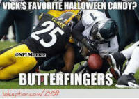 Candy, Halloween, and Michael Vick: VICKSFAVORITE HALLOWEEN CANDY?  BUTTERFINGERS  arcou 2459 Michael Vick loves Butterfingers!