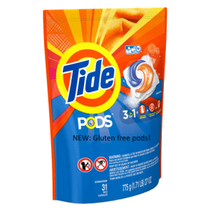 Children, Dank, and Memes: Vide  he  ORIGINAL  PODS  3P10.0.0  EN  DETERGENT  DETERGENT  NEW: Gluten free pods!  WARNING: HARMFUL IF PUT IN MOUTH OR SWALLOWED EVE A  Pacs can burst if children put them in mouth or play with e  See warning on back label.  AVERTISSEMENT:NOCIF SI INGERE OU MIS DANS LA BOUCH  IRRITE LES YEUX.Les capsules peuvent éclater si les enfants es  dans leur bouche ou s'ils jouent avec le produit. Voir lmention Aent  TENIR HORS DE LA PORTÉE DES ENFANTS  KEEP OUT OF REACH OF CHILDREN  DETERGENT/DETERGENT  31  PACS  CAPSULES New gluten free pods! No bamboozle! by Captain_control FOLLOW 4 MORE MEMES.