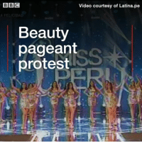 Memes, Protest, and Girl: Video courtesy of Latina.pe  Beauty  pageant  protest A beauty pageant with a difference. Miss Peru contestants broke with tradition and used the event to highlight figures detailing violence against women rather than give their body measurements. One women said a girl dies every 10 minutes due to sexual exploitation in Peru. missperu peru beauty beautypageant pageant