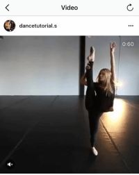 I always watch dance videos, I think they're soooo cool but I would never even try to dance: Video  dancetutorial.s  0:60 I always watch dance videos, I think they're soooo cool but I would never even try to dance