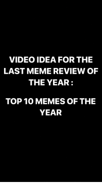 Top 10 Memes: VIDEO IDEA FOR THE  LAST MEME REVIEW OF  THE YEAR:  TOP 10 MEMES OF THE  YEAR