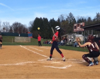 Video: Softball player takes one of the craziest swings you'll ever see! Watch >