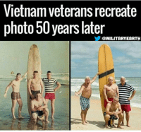 Best reunion photo ever taken: Vietnam veteransrecreate  photo 50 years later  @MILITARY EARTH Best reunion photo ever taken