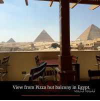 Memes, Pizza, and Pizza Hut: View from Pizza hut balcony in Egypt.  .u