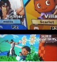 smashing: Villa  Scarlet  Richter  massa  P2  SUPER  SMASH BRPS