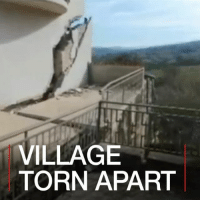 23 FEB: See the village which is being split in two by a landslide – one metre at a time. Houses in Ponzano in Italy are being swallowed up by the fissure, leaving many homeless. The settlement is in the Abruzzo region, which was hit by a string of earthquakes in 2016. Watch more: bbc.in-ponzano Landslide Ponzano Abruzzo Italy BBCShorts BBCNews @BBCNews: VILLAGE  TORN APART 23 FEB: See the village which is being split in two by a landslide – one metre at a time. Houses in Ponzano in Italy are being swallowed up by the fissure, leaving many homeless. The settlement is in the Abruzzo region, which was hit by a string of earthquakes in 2016. Watch more: bbc.in-ponzano Landslide Ponzano Abruzzo Italy BBCShorts BBCNews @BBCNews