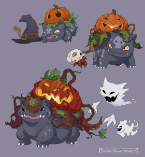 vincenzonova: Guys I did more Pumpkin Bulbasaurs. More specifically, Halloween Bulbasaurs.  Additionally we got: Witch-Hat Mimikyu,  Skull Dwebble, and Spoopy Gastly-line : VINCENZO NOVA TUMBLR COm vincenzonova: Guys I did more Pumpkin Bulbasaurs. More specifically, Halloween Bulbasaurs.  Additionally we got: Witch-Hat Mimikyu,  Skull Dwebble, and Spoopy Gastly-line