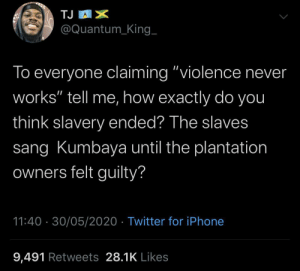 Violence is never the answer but sometimes it is (via /r/BlackPeopleTwitter): Violence is never the answer but sometimes it is (via /r/BlackPeopleTwitter)