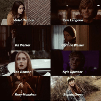 Taissa+Evan characters (Corinne is from the movie Higher ground and not Ahs) TaissaFarmiga EvanPeters Ahs: Violet Harmon  Kit Walker  Zoe Benson  Rory Monahan  Tate Langdon  Corinne Walker  Kyle Spencer  Sophie Green Taissa+Evan characters (Corinne is from the movie Higher ground and not Ahs) TaissaFarmiga EvanPeters Ahs