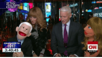 cnn.com, Countdown, and Memes: VIP Party  Times Square  8:19 PM ET  COUNTDOWN TO  3:40:45  APPYNE  CNN  5:19 PM PT Anderson Cooper and Kathy Griffin are live in Times Square for New Year's Eve along with their puppet counterparts... who are reportedly already a little tipsy! Join us on CNN and CNN.com/go