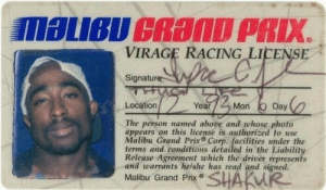 grand prix: VIRAGE RACING LICENSE  Signature  Location  Year  Mon Day  The person named above and whose photo  appears on this license is authorized to use  Malibu Grand Prix Corp. facilities under the  terms and conditions detailed in the Liability  Release Agreement which the driver represents  and warrants helshe has read and signed.  Malibu Grand Prx SHAKW