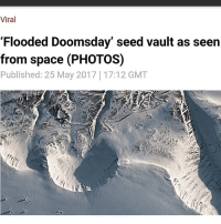 """Food, Memes, and Twitter: Viral  'Flooded Doomsday' seed vault as seen  from space (PHOTOS)  Published: 25 May 2017 17:12 GMT Satellite photos show the Svalbard Global Seed Vault for the first time since reports of flooding triggered widespread panic last week. The facility represents Earth's best chance of re-establishing food supplies after a global catastrophe. Permafrost meltwater """"gushed"""" into the entrance of the seemingly-impregnable fortress on May 19 – but internal damage to the structure is minimal. Thankfully the so-called 'flooding' did not affect any of the seeds but Earth observation company Deimos Imaging released pictures of the damage to the 'Doomsday Vault' as captured by its Deimos-2 satellite. The first image shows Svalbard's Longyear airport, the most northerly on Earth. The Norwegian government confirmed it plans to boost the vault's defenses following the leak but others insist that the incident is being overplayed and that no actual flooding took place.Cary Fowler, former executive director of the Crop Trust – the firm that helped create the vault – took to Twitter to clarify there had been no 'flooding' at the facility.The agriculturalist explained that for any water to get near the seeds it would have to get past two independent pump systems, go uphill through three doors and then survive 0.4°F (-18°C) temperatures. Hege Njaa Aschim, a spokesperson for the Norwegian government which owns the vault, told RT.com that """"the seeds and the vault itself was never at risk,"""" but they do not want water even at the entrance and are working on minimizing this risk. https:-www.rt.com-viral-389737-flooded-doomsday-vault-satellite-images-"""