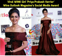 "Journey, Social Media, and Girl: Viral WINK Girl 'Priya Prakash Varrier""  Wins Outlook Magazine's Social Media Award  PC Jeweller  tlo  SM  PCJ  PC Jeweller  JOHNNTE WALK oRNEY  THE JOURNEY  n SATHYAB  PC  LAUGHING  ia A  OSM #WinkGirl #PriyaPrakashVarrier"