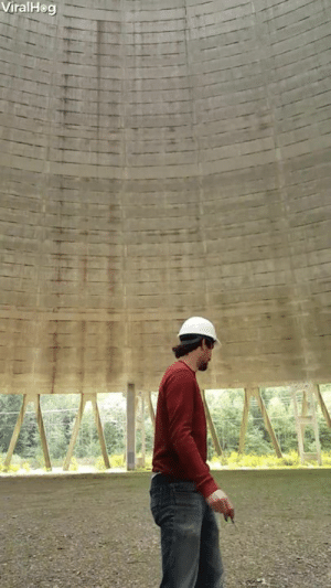 Pop, You, and Balloon: ViralHeg This is what it sounds like when you pop a balloon in a nuclear plant cooling tower 😱