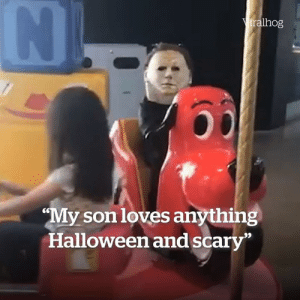 """""""I'll be having nightmares about this for weeks now"""" 😂  Credit: ViralHog: Viralhog  """"My son loves anything  Halloween and scary""""  IN """"I'll be having nightmares about this for weeks now"""" 😂  Credit: ViralHog"""