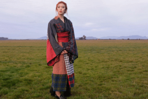 Target, Tumblr, and Blog: viralthings:  I am half Scottish and half Japanese- I hand-sewed this kimono from men's dress shirts and boxer shorts.