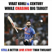 Best in the World 🙌🏻 Run Machine Seeing Virat score centuries now seems so common, he just makes it look so easy 👌🏻 Phenomenal Chase by Kohli & Dhoni 👏🏻 Best Finishers Chase Masters Legends: VIRAT KOHLI & CENTURY  WHILE CHASING  BIG TARGET  STILL  A BETTER  LOVE STORY  THAN TWILIGHT Best in the World 🙌🏻 Run Machine Seeing Virat score centuries now seems so common, he just makes it look so easy 👌🏻 Phenomenal Chase by Kohli & Dhoni 👏🏻 Best Finishers Chase Masters Legends