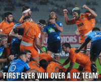 Argentina, History, and New Zealand: VISA  TORS  FIRSTEVER WIN OVER A NZ TEAM Congrats to the Jaguares for winning against a New Zealand franchise for the first time in their history 🇦🇷 rugby jaguares blues argentina