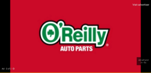 Will, Auto, and Oreilly: Visit advertiser  O'Reilly  AUTO PARTS  Ad will end  in -9s  Ad 2 of 2 The ad won't end it just keeps counting