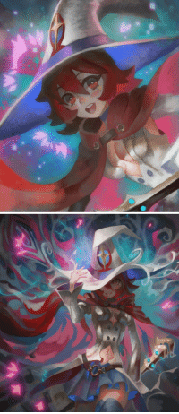 visqi:  Just wanted to paint Shiny Chariot with pink and blue. Little Witch Academia fan art.: visqi:  Just wanted to paint Shiny Chariot with pink and blue. Little Witch Academia fan art.