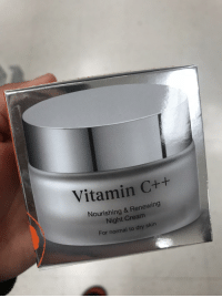 Cream, Vitamin C, and Skin: Vitamin  C++  Nourishing & Renewing  Night Cream  For normal to dry skin Object Oriented Skin Care