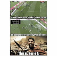 Football is a tactical game in Italy 😂👊⚽️ Sparta Italy Corners Tacticalb: VIVO  41 Fiorentina score directly fromacorner  ESrn 3  ViVO  footba  44'Bologna score directly froma corner  ThisisSerie A Football is a tactical game in Italy 😂👊⚽️ Sparta Italy Corners Tacticalb