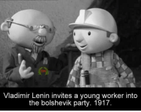Lenin recruiting young Bolsheviks (1917): Vladimir Lenin invites a young worker into  the bolshevik party. 1917. Lenin recruiting young Bolsheviks (1917)