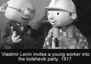 *We can fix it*: Vladimir Lenin invites a young worker into  the bolshevik party. 1917. *We can fix it*