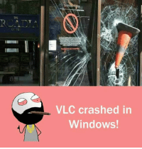 vlc: VLC crashed in  Windows!