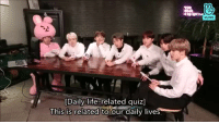 Life, Quiz, and You: VLIVE  [Daily life-related quiz]  Uhis is related to our daily lves I AGREE WITH YOU HOBI