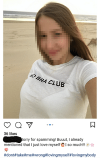 """Club, Love, and Tumblr: VO  BRA CLUB  36 likes  mentioned that I just love myself so much!!  #dont#take#me#wrong#lovingmyself#lovingmybody  orry for spamming! Buuut, I already <p><a href=""""http://memehumor.net/post/165840597988/no-bra-club"""" class=""""tumblr_blog"""">memehumor</a>:</p>  <blockquote><p>No Bra Club</p></blockquote>"""