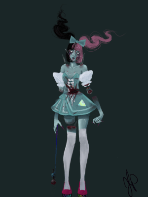 Paint, Spirit, and Star: Vocaloid/Jpop Star Spirit cosmetic concept. I'll go insane if I paint this any longer so ima just share it.^.^