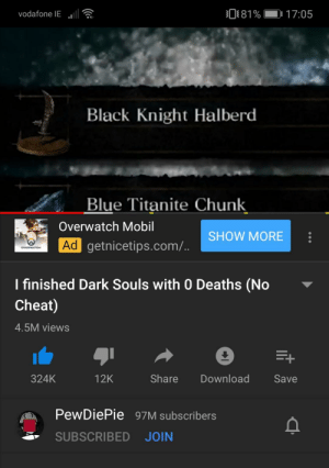 Vodafone Ie 081 1705 Black Knight Halberd Blue Titanite Chunk Overwatch Mobil Show More Ad Getnicetipscom Overwatch I Finished Dark Souls With 0 Deaths No Cheat 45m Views Share Download 324k 12k Not found outside of lordran. meme
