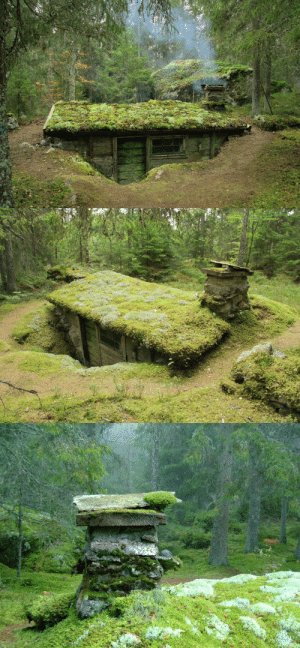 voiceofnature:   In the early 1800s a man named Little Jon lived in this so called earth cabin (swe. 'backstuga') located in southern Småland, Sweden. An earthen cabin is built partially buried in the ground, in this case there's three walls of stone and one wall made of wood. In Sweden earthen cabins was common in the forests from the 1600s until the late 1800s Link : voiceofnature:   In the early 1800s a man named Little Jon lived in this so called earth cabin (swe. 'backstuga') located in southern Småland, Sweden. An earthen cabin is built partially buried in the ground, in this case there's three walls of stone and one wall made of wood. In Sweden earthen cabins was common in the forests from the 1600s until the late 1800s Link