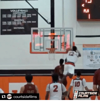 Sports, Zion, and Reeling: VOLLEYBALL  CONFERENCE  llEGIONAL  SECTIONAL  n Courtside film  FLS  COURTSIDE  FILITS Just another highlight to add to 16-year-old Zion Williamson's reel 🏀🎞 (via @courtsidefilms, h-t @houseofhighlights)