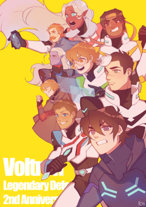 Journey, Target, and Tumblr: Volt  Legendary Dei  2nd Annive  fox foxkunkun:HAPPY 2ND ANNIVERSARY TO VOLTRON LEGENDARY DEFENDER!!  It's been so much fun to see the characters interact and grow, and i'm happy to be a part of this journey   💙  ❤️  🖤  💚  💛
