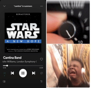 "i love cantina band: VOLUIA  ""cantina"" in nummers  REMASTERED  STAR  WARS  ANEW HOPE  10  MUSIC COMPOSED AND CcONDUCTED BY JOHN WILLIAMS  maronMo w THE LONDON SYMPHONY ORCHESTRA  Cantina Band  John Williams, London Symphony C  0:16  -2:29  117 i love cantina band"