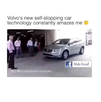 Volvo's new self-stopping car  technology constantly amazes me  Micko Newell  IG @scooby doofruitsnacks i love technology