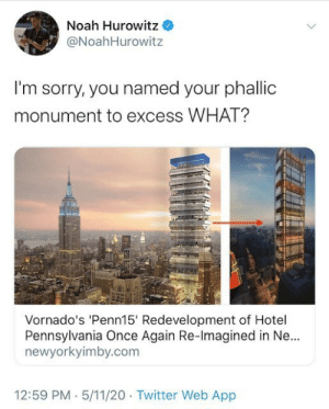 Vornado's 'Penn15' Tower Brings Out Twitter's Inner 12 Year Old: Vornado's 'Penn15' Tower Brings Out Twitter's Inner 12 Year Old